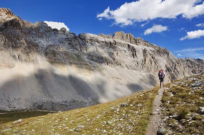 photo montagne alpes randonnée GR5 cerces vallon falaises rochers paria