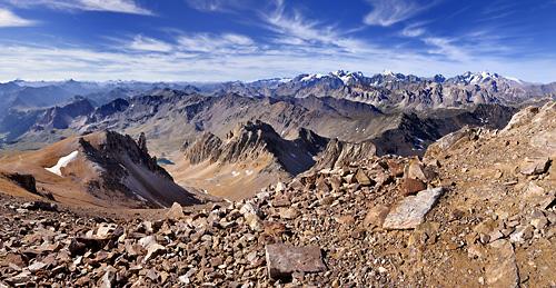 photo montagne alpes randonnée GR5 cerces mont thabor panorama ecrins glaciers