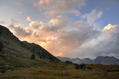 photo montagne alpes randonnée GR5 cerces lac cristol coucher soleil