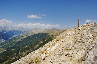 photo montagne alpes randonnée GR5 cerces briancon crete peyrolle croix cime