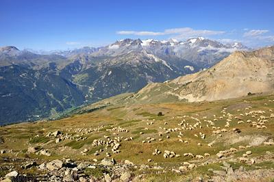 photo montagne alpes randonnée GR5 cerces ecrins col granon