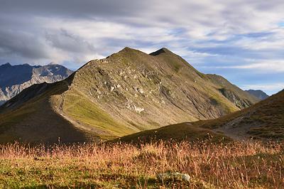 photo montagne alpes randonnée GR5 col croix bonhomme crete gittes