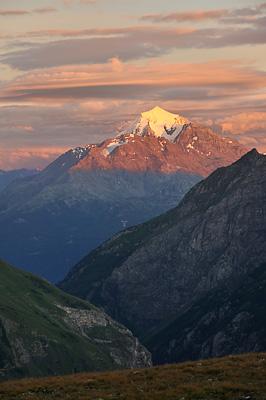 photo montagne alpes randonnée GR5 col croix bonhomme coucher soleil mont pourri