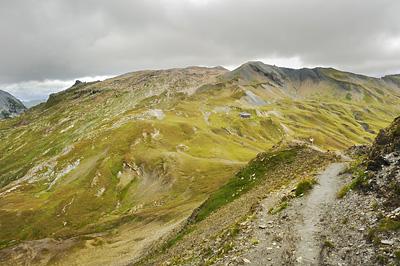 photo montagne alpes randonnée GR5 beaufortain crete gittes col croix bonhomme