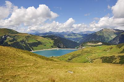 photo montagne alpes randonnée GR5 beaufortain lac roselend