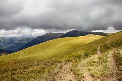photo montagne alpes randonnée GR5 beaufortain chalet petite berge plan lai roselend