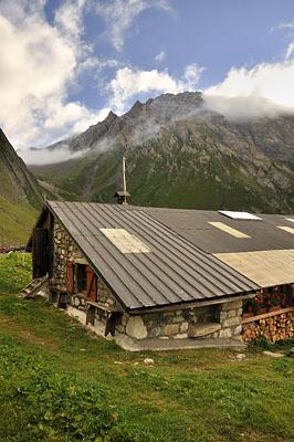 photo montagne alpes randonnée GR5 beaufortain refuge balme