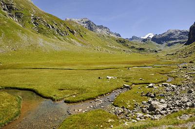 photo montagne alpes randonnée GR5 vanoise plan eaux