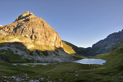 photo montagne alpes randonnée GR5 vanoise lac plagne