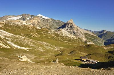 photo montagne alpes randonnée GR5 vanoise col palet refuge