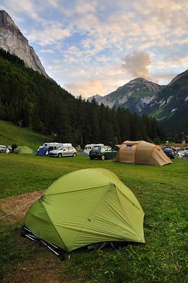 photo montagne alpes randonnée GR5 vanoise pralognan camping