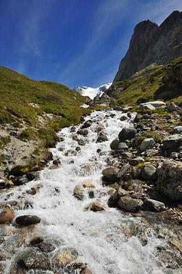 photo montagne alpes randonnée GR5 vanoise col torrent grande casse