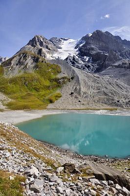 photo montagne alpes randonnée GR5 vanoise col grande casse lac long