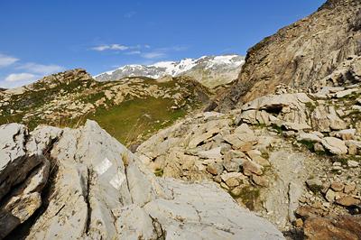photo montagne alpes randonnée GR5 vanoise lac blanc