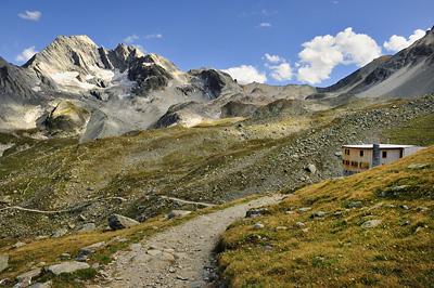 photo montagne alpes randonnée GR5 vanoise refuge peclet polset