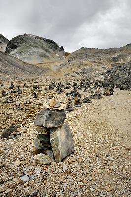 photo montagne alpes randonnée GR5 vanoise col chaviere cairn
