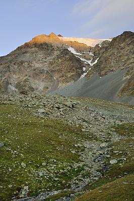 photo montagne alpes randonnée GR5 vanoise lever soleil peclet polset glacier greboulaz
