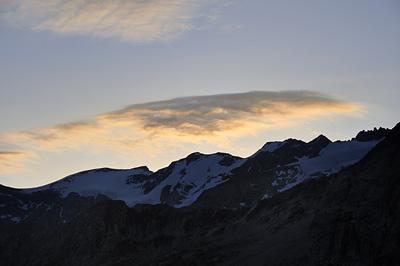 photo montagne alpes randonnée GR5 vanoise lever soleil peclet polset