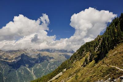 photo montagne alpes mont blanc chamonix balcon nord