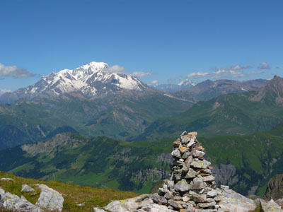 photo montagne alpes randonnée Beaufortain Grand Mont cairn mont blanc