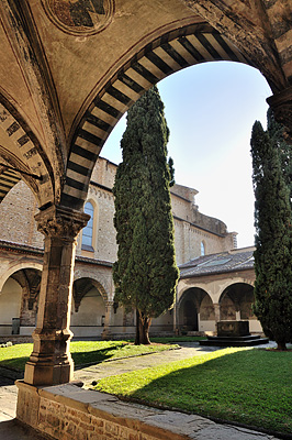 photo italie toscane toscana tuscany florence firenze basilique santa maria novella cloitre