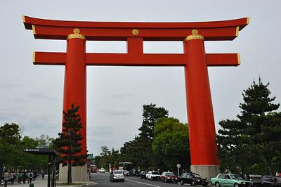 photo japon kyoto Heian-Jingu torii