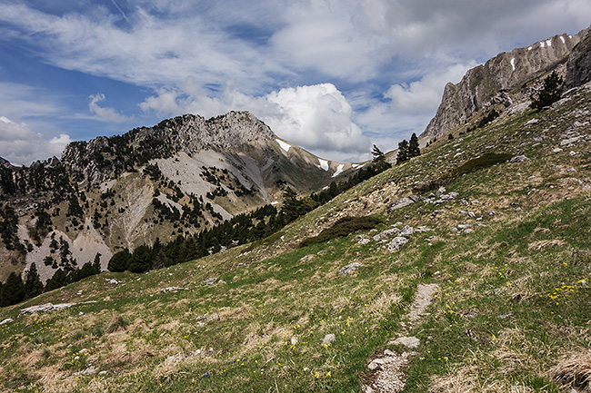 photo montagne alpes randonnée rando vercors baronnies lus la croix haute jocou