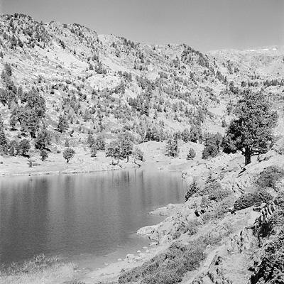 photo montagne randonnée alpes belledonne grenoble lac achard robert rolleiflex argentique