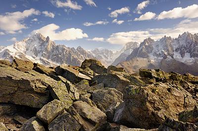 photo montagne alpes randonnée rando aiguilles rouges chamonix lac cornu aiguille verte