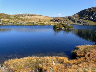 photo montagne alpes randonnée lac fourchu