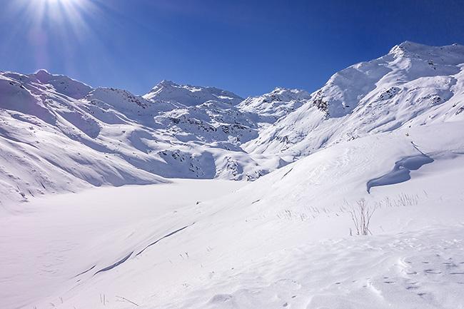 photo montagne alpes randonnée rando raquettes savoie vanoise vallée belleville ménuires lac lou