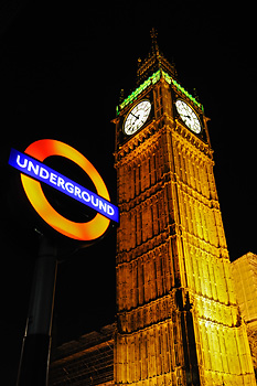 photo Londres big ben metro underground