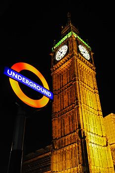 photo Londres big ben metro underground
