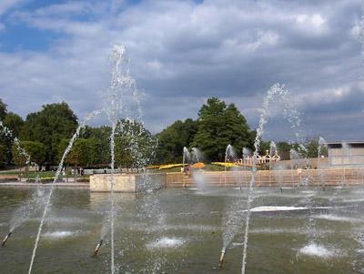 Londres Battersea Park Jets d'eau