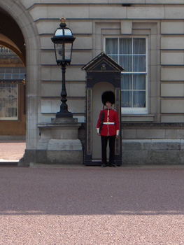 londres Buckingham Palace garde