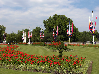 londres place jardins Buckingham Palace