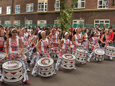 Londres Carnaval Notting Hill Battucada