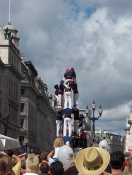 Londres Festival Espagnol Regent Street Pyramide humaine