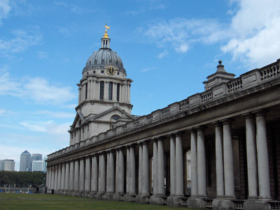 Londres Greenwich Old Royal Naval College chapelle