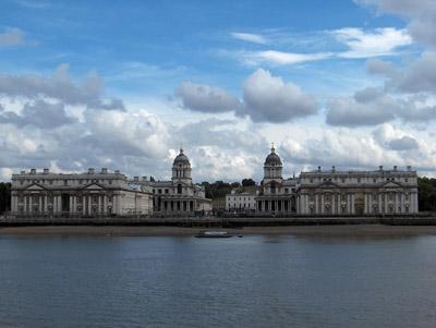 Londres Greenwich vue d'ensemble Old Royal Naval College
