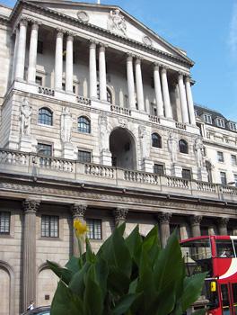 Londres La City Façade de la Bank of England