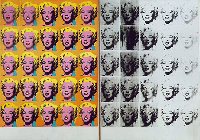 Londres Tate Modern Museum Marilyn Diptych Andy Warhol