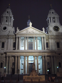 Londres nuit Saint Paul's Cathedral