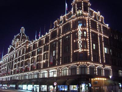 Londres nuit Harrods