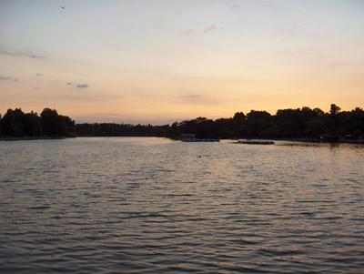 Londres Coucher de soleil Hyde Park