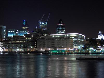 Londres nuit La City