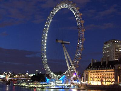 Londres nuit London Eye
