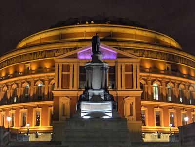 Londres nuit Royal Albert Hall