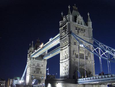 Londres nuit Tower Bridge