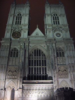 Londres nuit Westminster Abbey